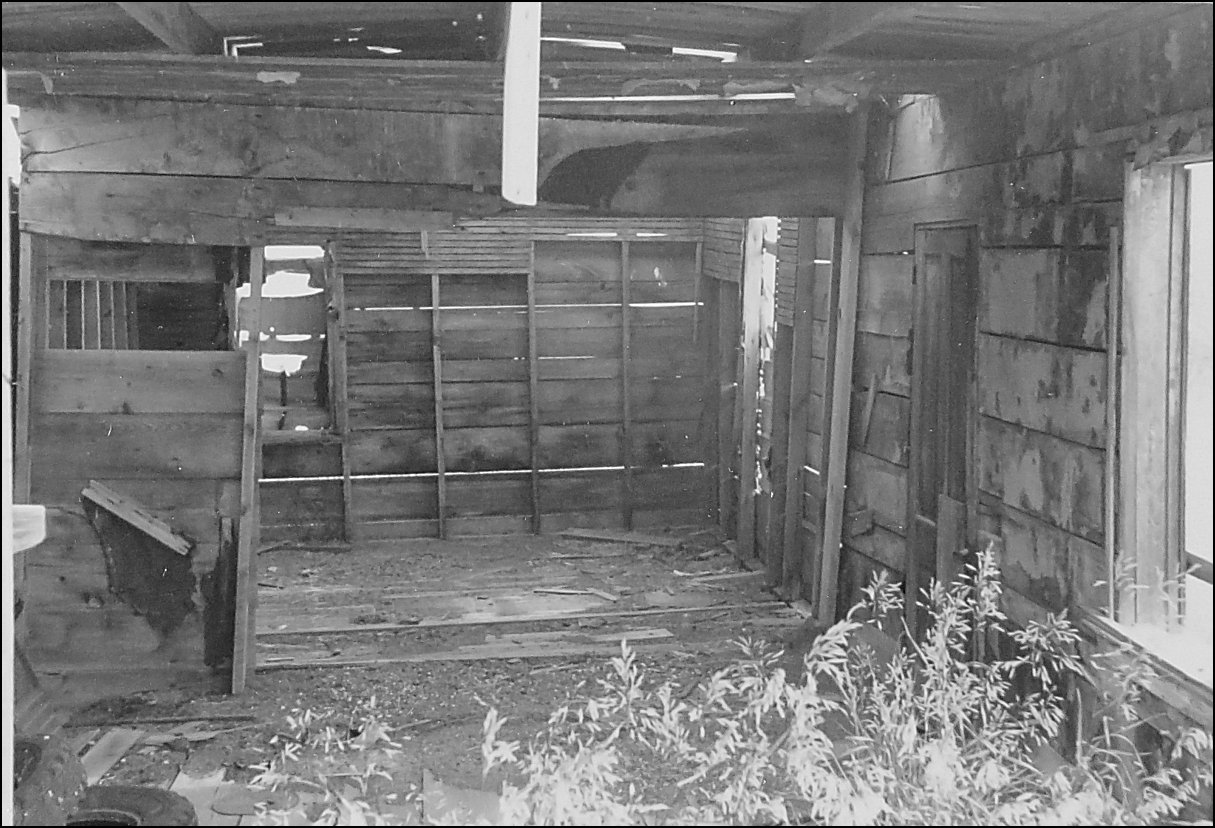 This is the inside of their shack, in about 1995.   (18 kb)