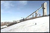 skiing next to ski jump at COP.  