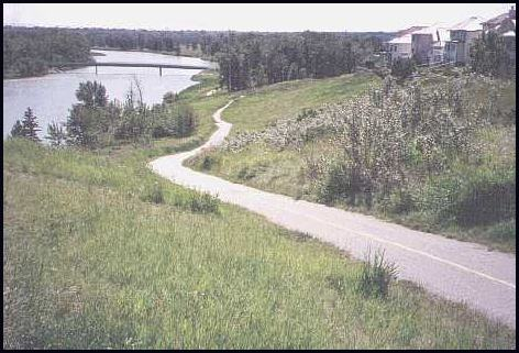 the path into Fish Creek Park - 25 kb